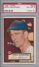 1952 Topps Baseball # 344 Ewell Blackwell PSA 6 High Number