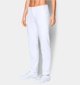 Women's Under Armour Link's White Golf Pants Size 12  #1272344-100