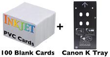 Inkjet PVC ID Card Starter Kit - Canon K Tray for PIXMA PRO-10, PIXMA PRO-100