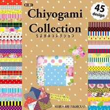 Origami Paper Washi Chiyogami 180 Sheets 45 Design 150 × 150mm 018054 JAPAN