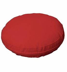 pb309r Bright Red Round Faux Leather Soft Thick Mattresses Cushion Cover Custom