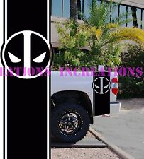 Deadpool Dodge Chevy Pickup Bed Stripes Truck Decals Stickers Set of 2 Racing