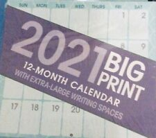 2021 BIG PRINT WALL CALENDAR ORGANIZER EXTRA LARGE WRITING SPACES 10in X 11in