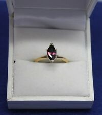 14k 1.28CT Marquise African Ruby Solitaire Ring Size 6, VS really clean gem!