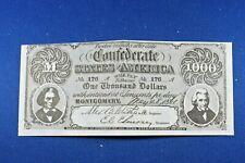 1962 Topps - Civil War News Currency - $1,000 - NrMt-NrMt/Mt Condition