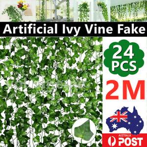 24Pcs 2M Artificial Ivy Vine Fake Foliage Hanging Plant Leaf Garland Party Dec