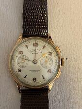 CHRONOGRAPHE SUISSE CORESA 18kt Watch Gold 18 Kt Orologio Cronografo