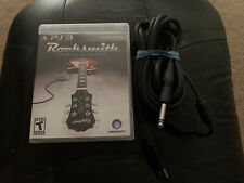Rocksmith (Sony PlayStation 3) W/ Real Tone Cable. No Manual. Fast Shipping.