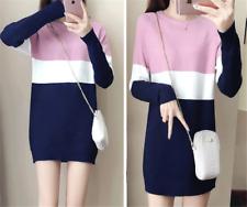 Fashion Woman Girls Autumn Sweater Dress Korean Long Sleeve Slim A-Line Dress