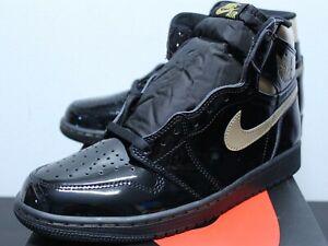 Air Jordan Retro 1 High OG Black Metallic Gold Sneakers Mens 8-13 555088-032 New