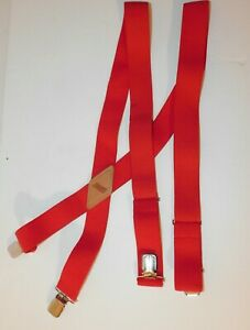 "Dickies Suspenders Nylon Elastic with metal clips X back 1.5"" wide Adjustable OS"