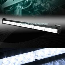 "27"" LED WHITE TRAFFIC ADVISOR EMERGENCY WARN FLASH STROBE LIGHT BAR UNIVERSAL 6"