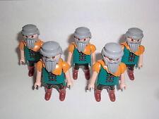 Playmobil 5 Zwerge Dwarf Zwergenkrieger Kämpfer Fantasy Ritterburg 6000 6695