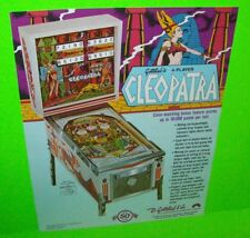 Gottlieb CLEOPATRA Original NOS 1977 (EM) Version Pinball Machine Promo Flyer