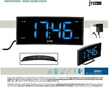 LOWELL J9025 RADIOSVEGLIA 220V DISPLAY CURVO a LED BLU RADIO FM PLL-10 MEMORIE