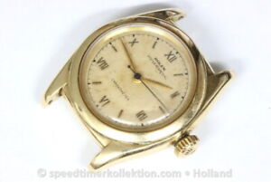 Rolex Oyster Perpetual 3131 Chronometer Bubble Back 14KT yellow gold