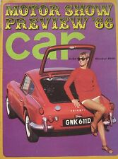 CAR magazine 10/1966 featuring Oldsmobile Tornado road test, Triumph, AC Cobra