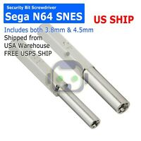 3.8mm & 4.5mm Security Bit Screwdriver for Nintendo Sega N64 SNES NES NGC A184