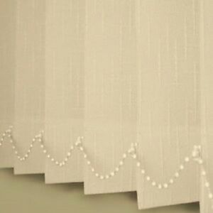 Vertical blinds non blackout spring Cream pattern Made to Measure up to 400cm