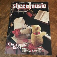 SHEET MUSIC MAGAZINE - CHRISTMAS 1984 piano guitar tabs songs holidays