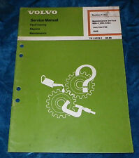 VOLVO SERVICE MANUAL 600-1200 MILE MAINT 740/760/780 1989 TP31323/1 SEC.1(17)