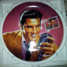 "ELVIS PRESLEY - 8 IN COLLECTOR'S PLATE, ""THE ROCK & ROLL LEGEND"", Delphi, 1993"