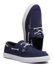 Timberland  Mens Union Whare Boat Shoe Navy Canvas 2 Eye  A1Q86