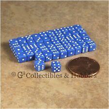 NEW 5mm 50 Opaque Blue Mini Dice Set RPG Game Miniature Tiny 3/16 inch D6 Koplow