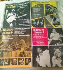 Down Beat Music Magazine Lot (4) 1969 & 1970 - Frank Zappa - Miles Davis - Other