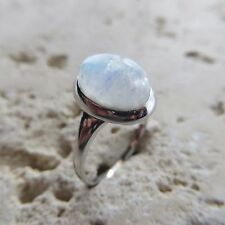 Size 10, Size T 1/2, Size 62, Blue MOONSTONE Ring in 925 STERLING SILVER #0122