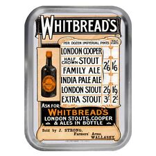 Whitbread's Prices Vintage Advert Lidded 2oz Tin Tobacco Storage