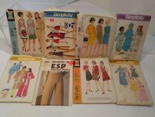 Lot of 8 Vintage Assorted Sewing Patterns - McCalls, Simplicity 1970s