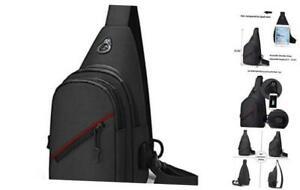 Tactical Sling Bag One Strap Crossbody Mini Shoulder Backpack, Brown Black