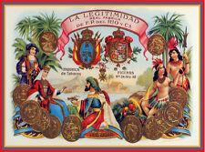 """20x30""""Decoration Poster.Interior design art.Legitimidad cigar label.6325"""