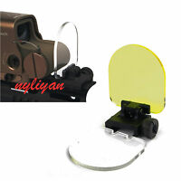 2X Rifle Scope Protector Screen Lens QD Cover Shield Panel 20mm Rail Mount W&Y