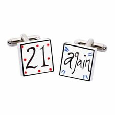 21 Again Cufflinks by Sonia Spencer, Hand painted, RRP £20!