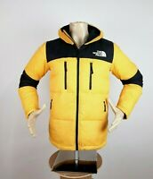 The North Face Himalayan Light Down Jacket Yellow Black Men's Size S Hooded $299