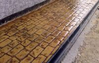 """Concrete texture stamp mat RUBBER for printing on cement plaster """"SETT"""""""