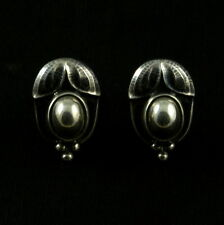 Georg Jensen Sterling Silver Ear Clips Of The Year 2003 - Heritage
