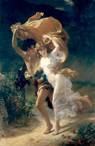The Storm by Pierre-Auguste Cot 91cm x 59cm High Quality Art Print