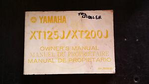 Yamaha XT125J XT200J XT 125 200 J 1981 Owners Manual