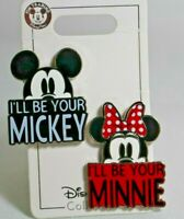 """DISNEY PARKS COLLECTION """"I'LL BE YOUR MICKEY & I'LL BE YOUR MINNIE 2-Pin Set NEW"""