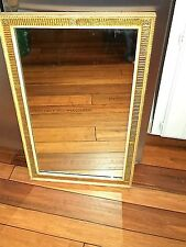 Beautiful Italian Vintage Giltwood Gold 1940's  Frame Hanging Wall Mirror