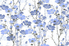 BEAUTIFUL BLUE FLOWERS CANVAS PICTURE #12 STUNNING FLORAL HOME DECOR A1 CANVAS