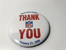 "1999 Nfl Super Bowl Xxxiii Thank You Pin Collectible 3"" X 3"""