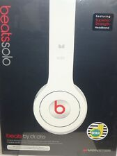 Beats by Dr. Dre SOLO White On-Ear  Headphones W/ ControlTalk HTC Brand New