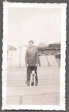VINTAGE 1930S FRANCE RAYMOND & KING AUSTRALIAN SHEPHERD DOG PUPPY PUP OLD PHOTO