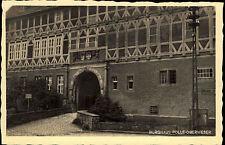 Polle Oberweser Niedersachsen Postkarte ~1930/40 Partie am Burghaus Tor Fachwerk