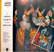 LES FRERES JACQUES chantent PREVERT LP numéroté PHILIPS le gardien de phare EX++