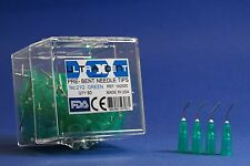 Dental Pre-Bent Needle Tips 21g Green Set Of /80 With Storage Box ULTRAXDENT USA